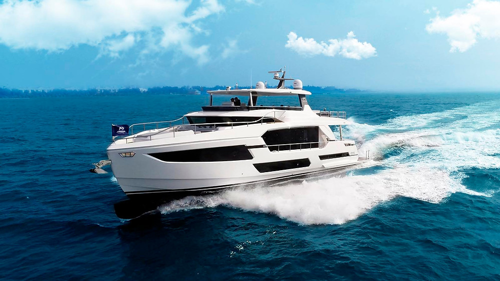 yate lujo fd75 horizon yachts navegando foto accion