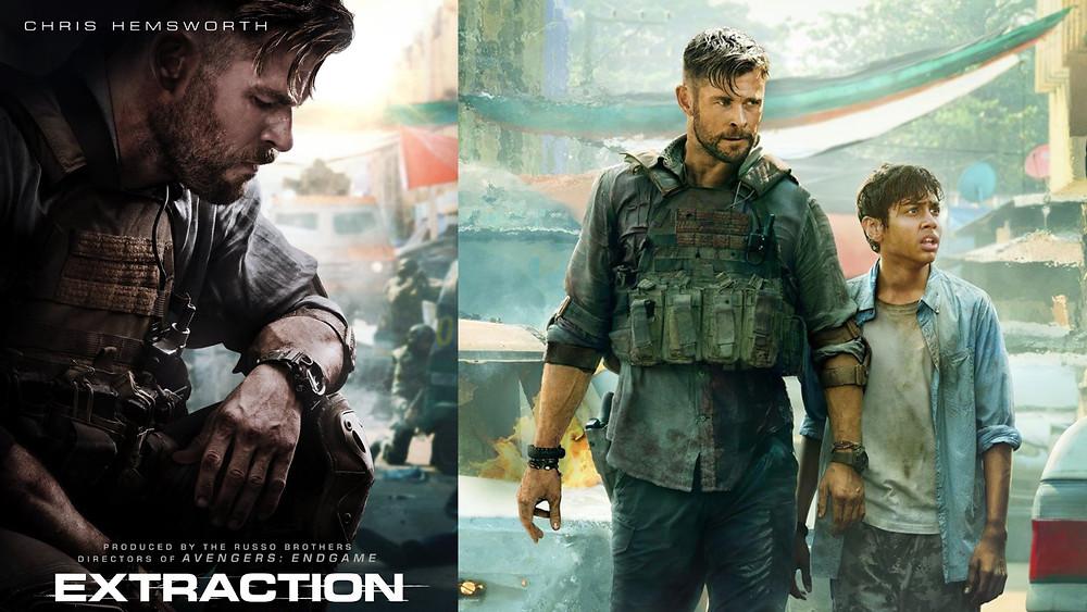 Película Extraction Netflix Chris Hemsworth donde lleva reloj Rangeman