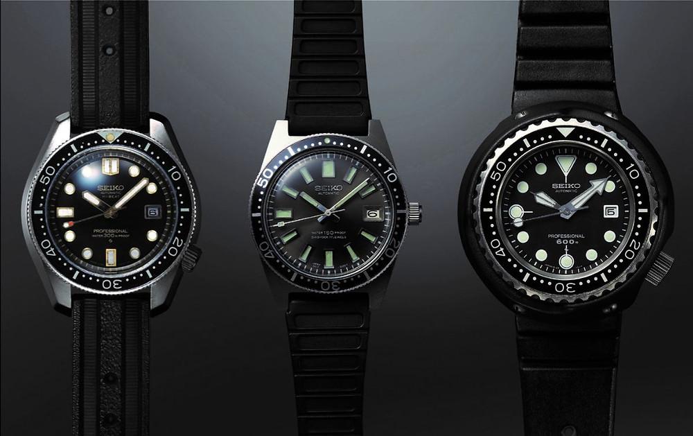 Relojes originales Seiko de buceo de 1969 y 1975