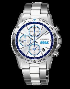 reloj edicion limitada Seiko x SEGA en plata