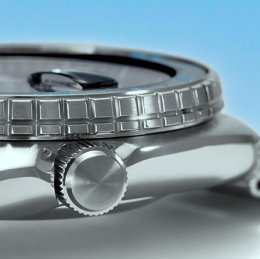 reloj padi king tortuga SRPG19K1 detalle corona bisel diver