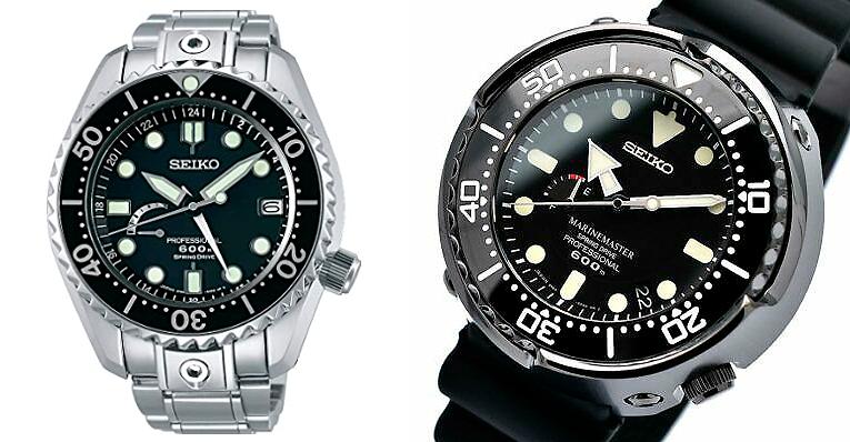 Relojes marinemaster 600 metros ref SBDB011 y ref SBDB013