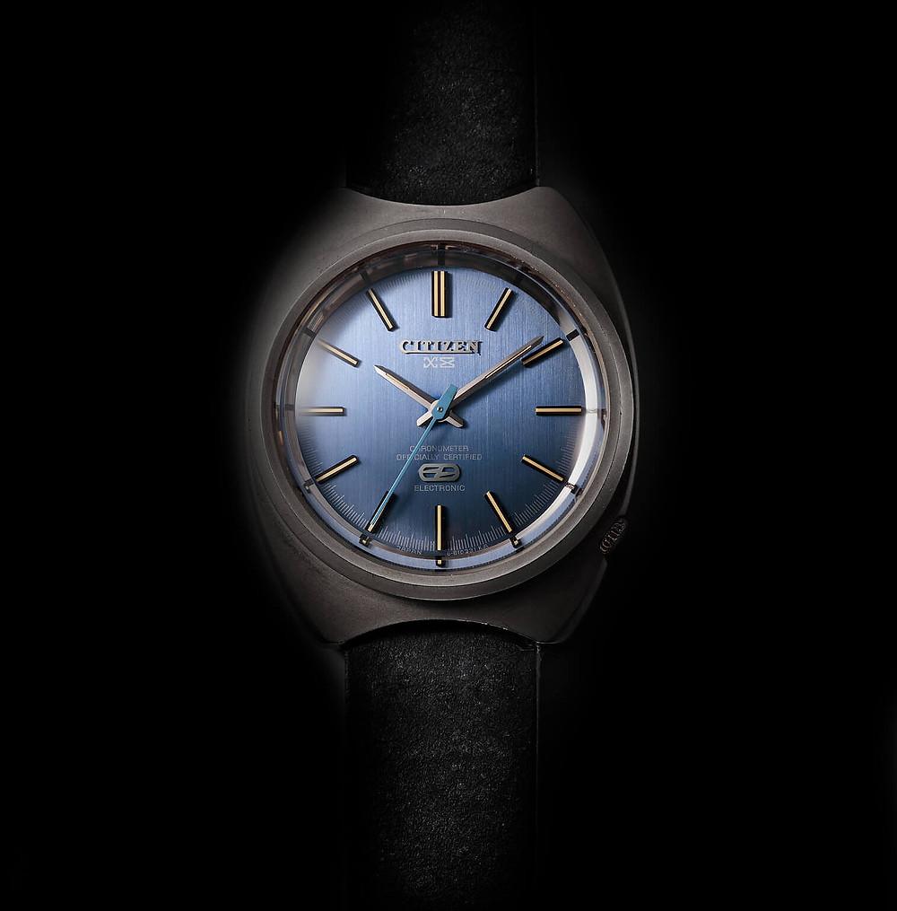 citizen primer reloj con caja de  titanio 1970