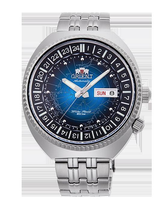 reloj orient revival world map RA-AA0E03L