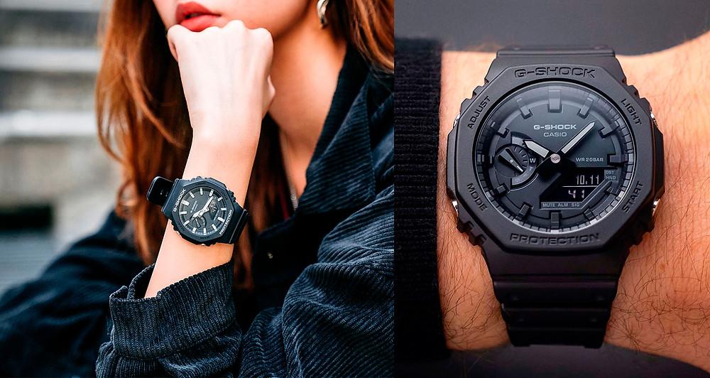Reloj de moda Casio G-Shock GA-2100-1A1