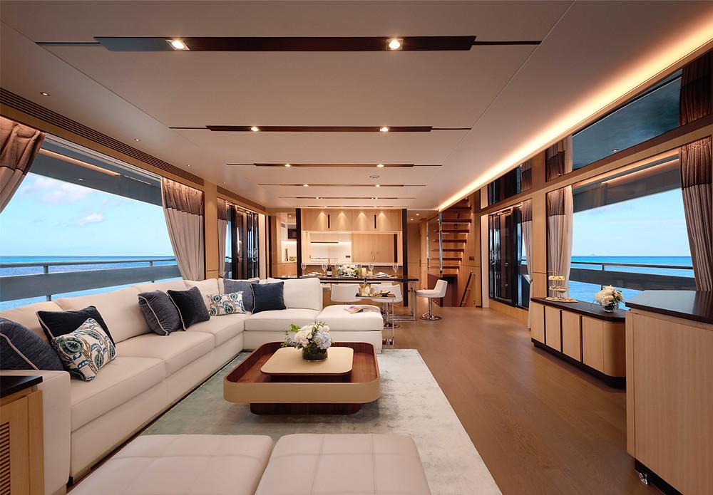 Los yates Horizon Yachts serie FD destacan por su avanzada tecnología y habitabilidad máxima