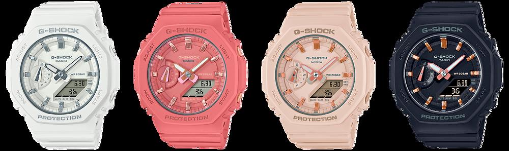 4 nuevos modelos g-shock para ellas modelo GMA-S2100 series