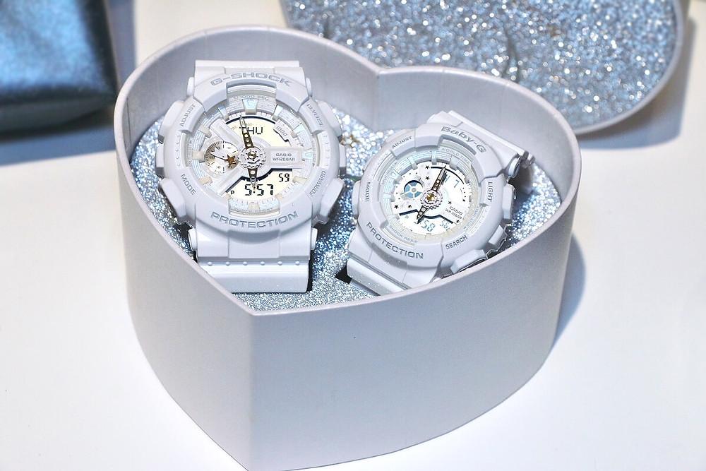 G-Shock Lovers Collection 2 relojes uno g-shock y otro baby-g con mismo diseño y colores