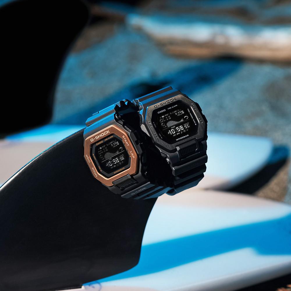 nuevos casio g-shock g-lide relojes apar surf gbx-100ns 2021