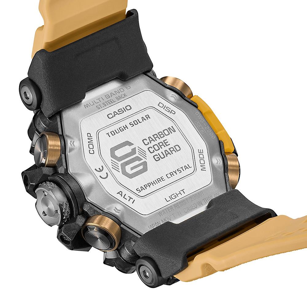 detalle tapa fondo reloj casio g-shock mudmaster modelo gwg-2000-1a5er