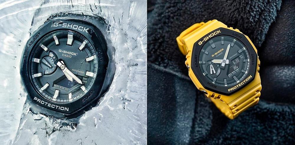 reloj modelo GA-2110SU-9AER en color amarillo de Casio G-Shock