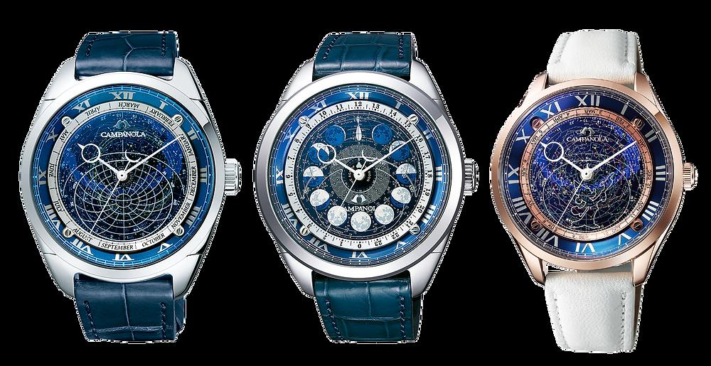 coleccion cosmos relojes de lujo japoneses campanola presentacion linea 2021