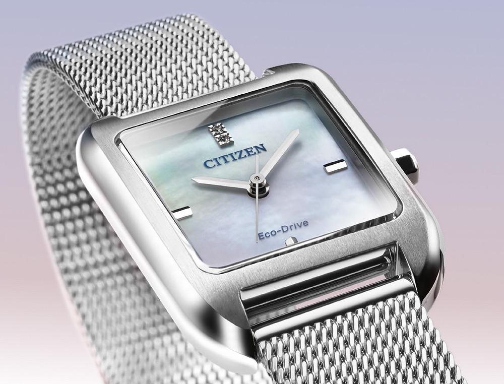 detalle-esfera mother of pearl reloj of collection citizen 2021