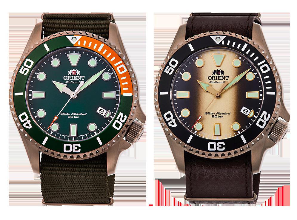 Orient diver's relojes 200m con caja ion plated color oro rosa  RA-AC0K04E10B  y RA-AC0K05G00B