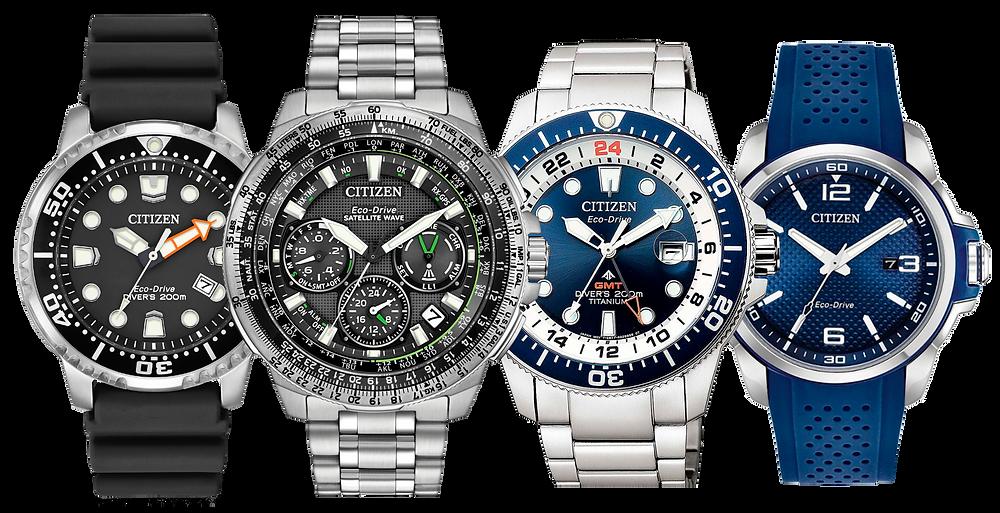 Relojes Citizen, imagenes promocionales mostrando hora 10:10