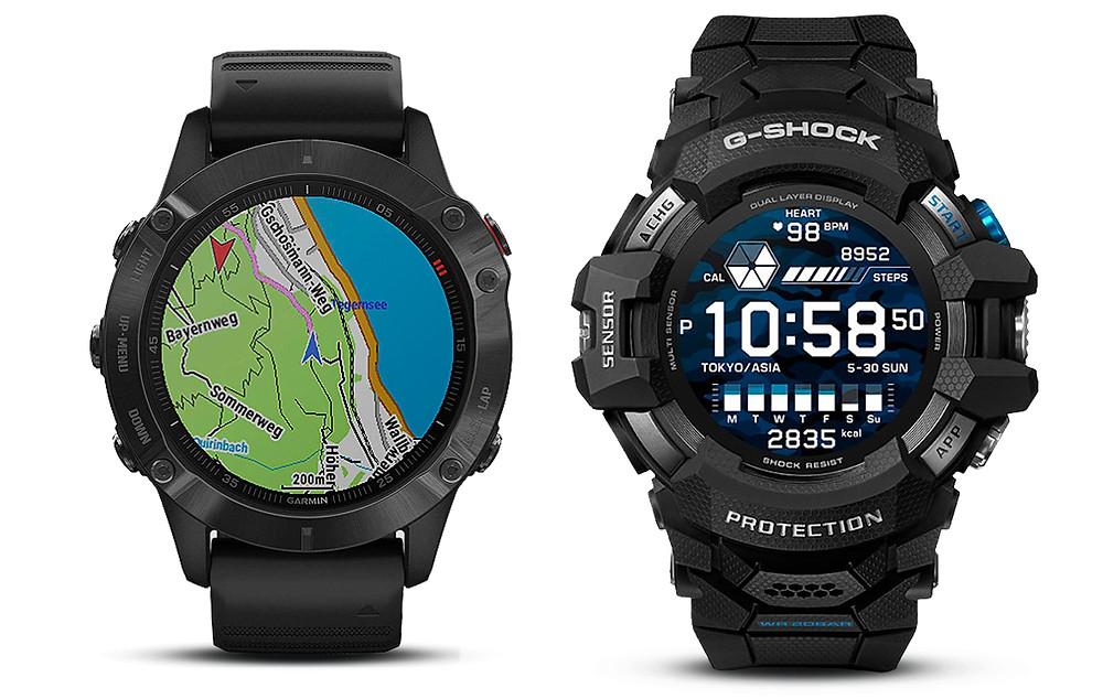 fenix 6 pro versus reloj casio gshock gsw-h1000 2021
