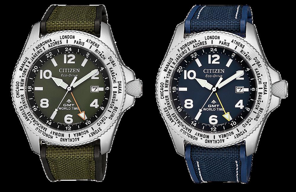 Reloj GMT doble huso horario Citizen BJ7100-15L