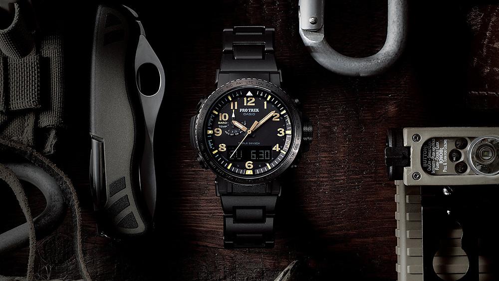 reloj Casio protrek serie prw50 triple sensor solar multiband6