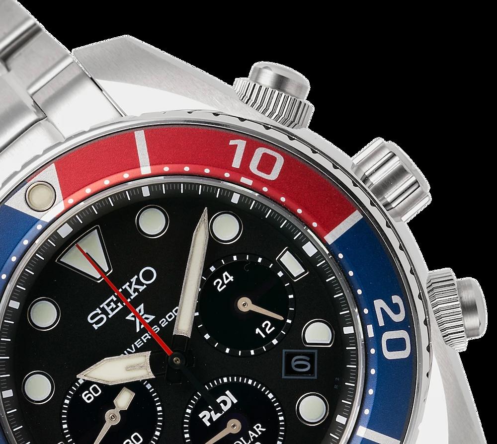 Detalle reloj seiko padi SSC795J1