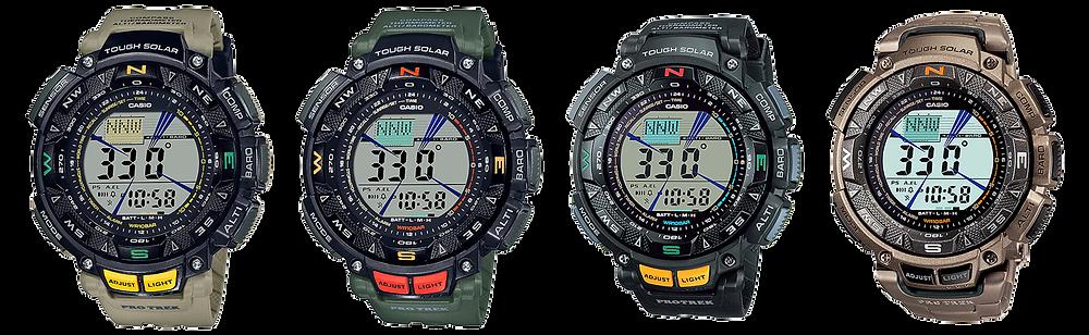 todos los modelos de relojes casio protrek serie prg240 disponibles en 2021
