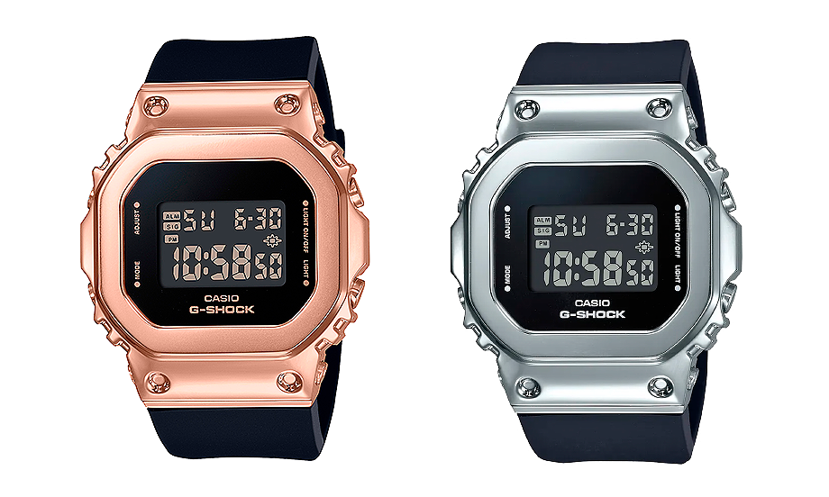 Relojes con bisel metalico g-shock tamaño pequeño