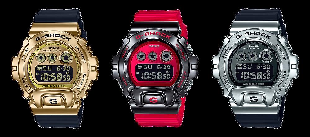 reloj g-shock bisel metalico serie GM-6900