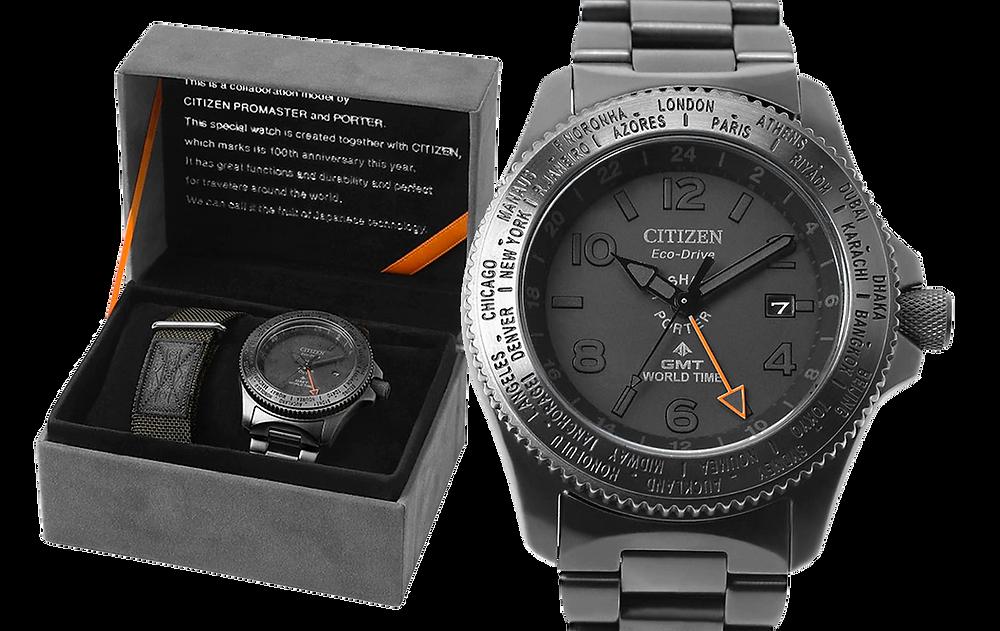 Edición limitada reloj Citizen Promaster GMT Yoshida porter 2019