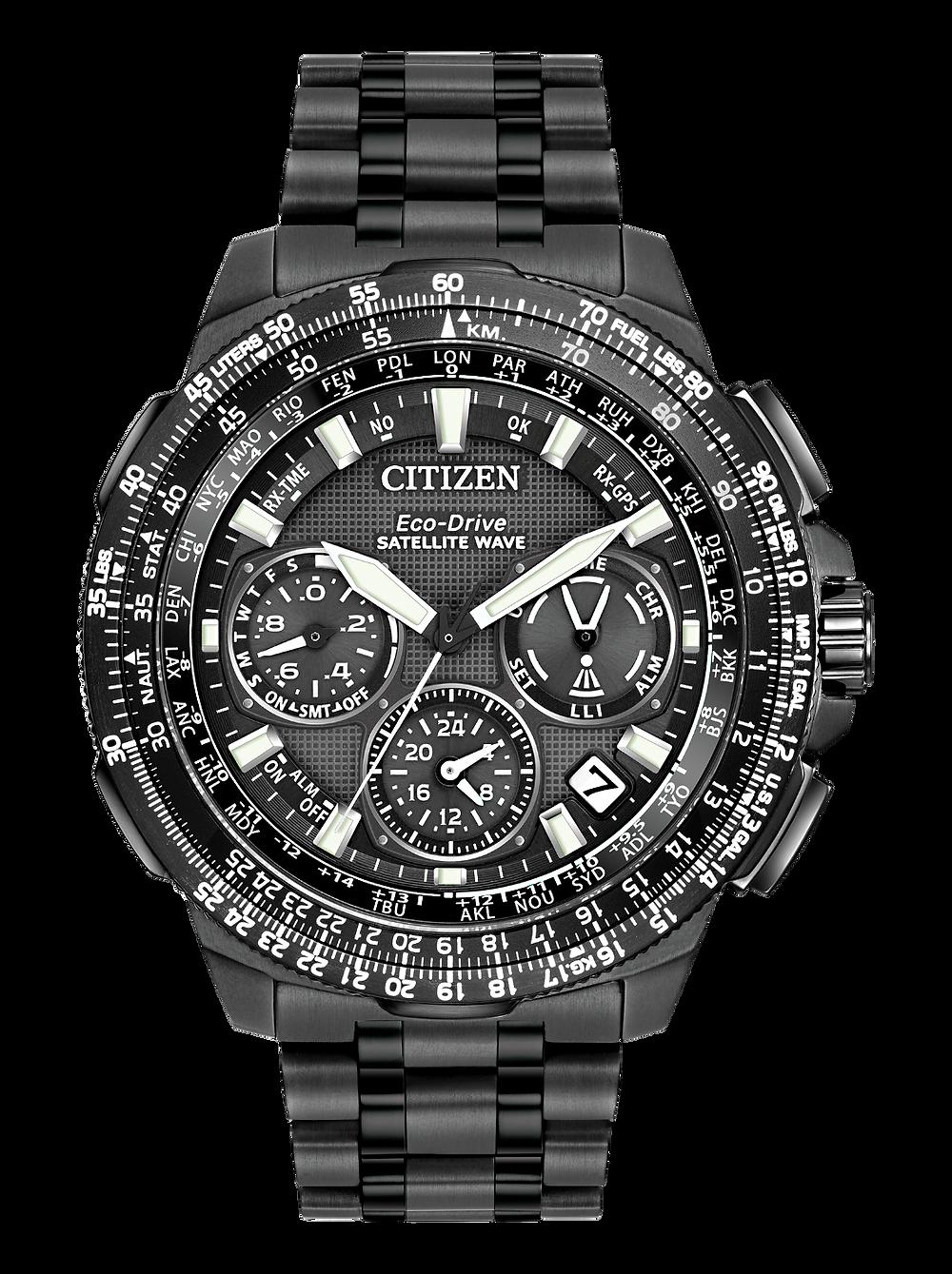 Reloj solar, gps, super titanium DLC + MRK Citizen Sky premier CC9025-51E