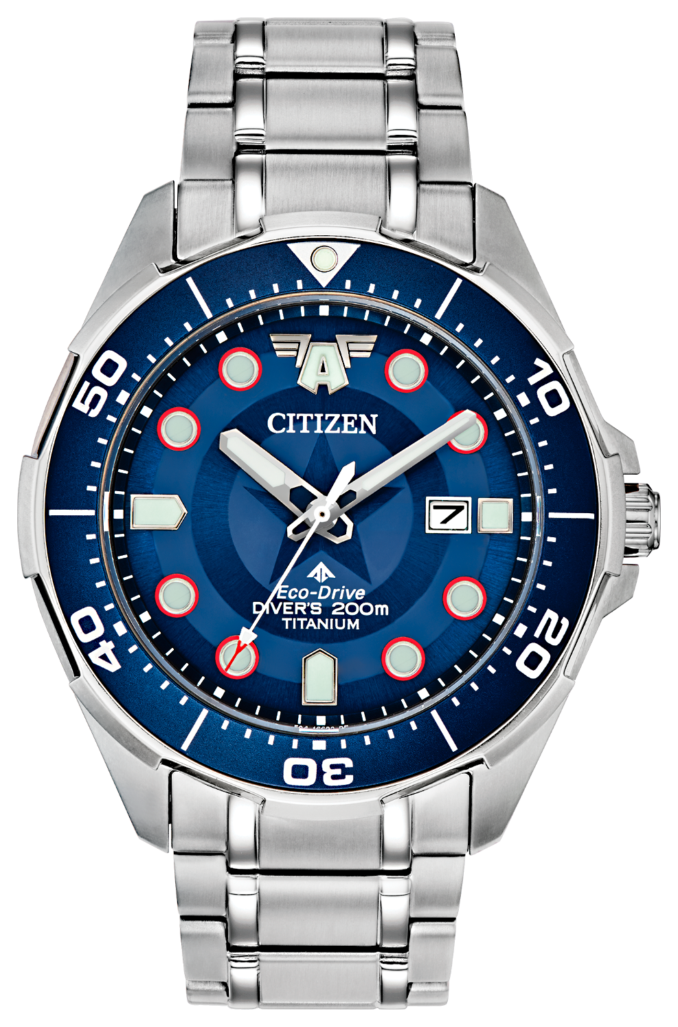 Reloj super-titanium, solar- motivo marvel de citizen watch modelo BN0208-54W