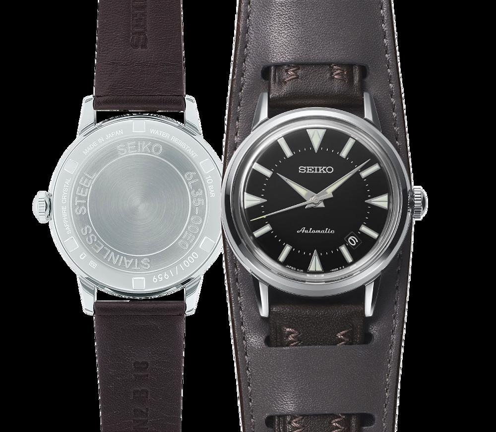 detalle fondo rosca numerado reloj edicion limitada 1959 uds. ref seiko SJE085J1