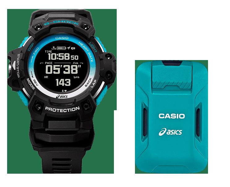 kit de rloj g-shock y dispositivo con sensores y gps para deportistas y entrenamiento personal GSR-H1000AS-SET
