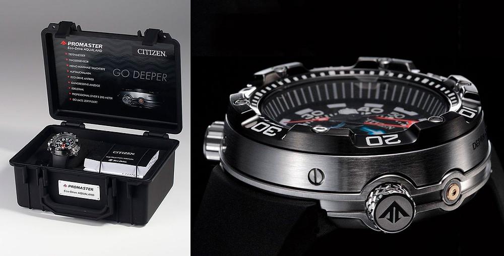 Detalle caja reloj Promaster eco-drive bn2024