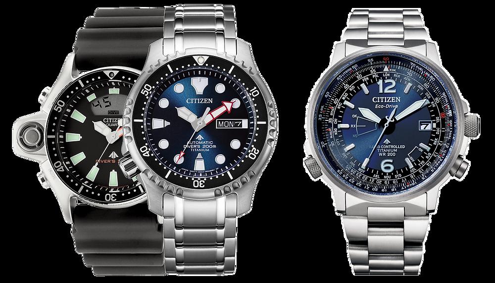 Reloj titanio eco-drive Promaster Pilot CB0230-81L