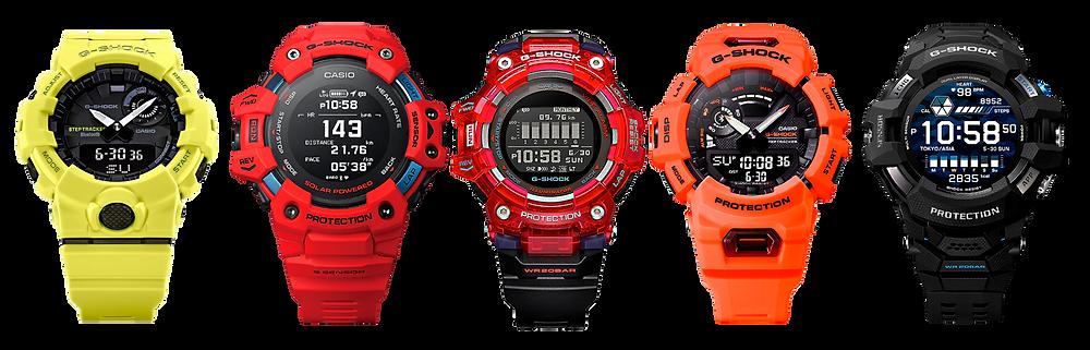 algunos mejores relojes deportivos modernos Casio G-Shock connected bluetooth app g-shock o app move 2018-2021