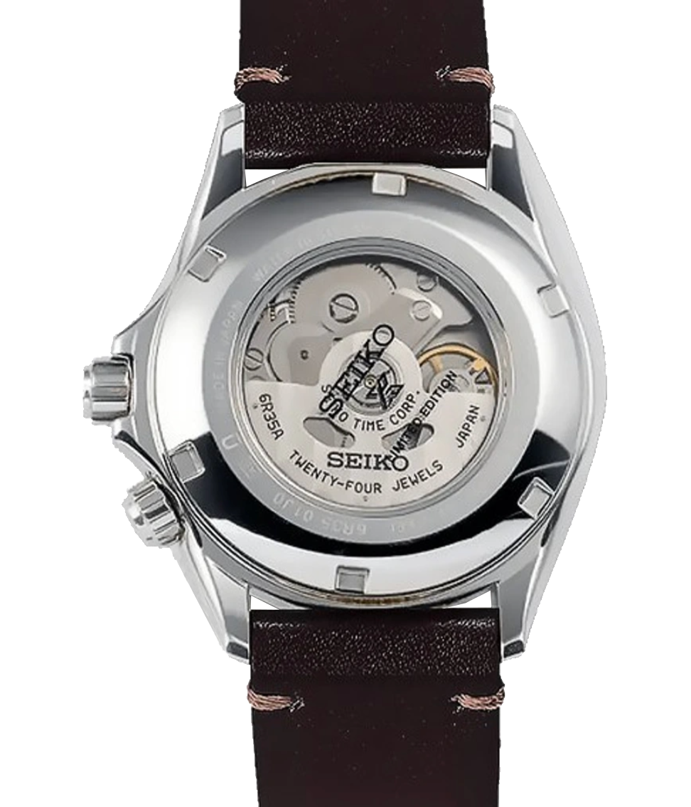 fondo reloj con ventana hardlex reloj seiko alpinist calibre 6r35