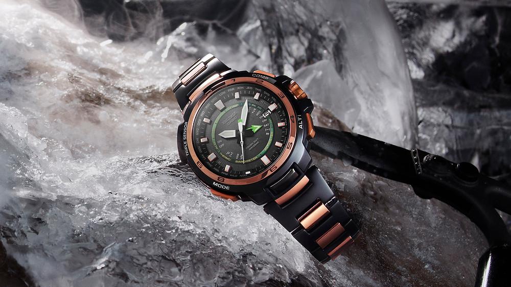 reloj pro-trek de casio modelo PRX-7001GF año 2014 apodado juio verne