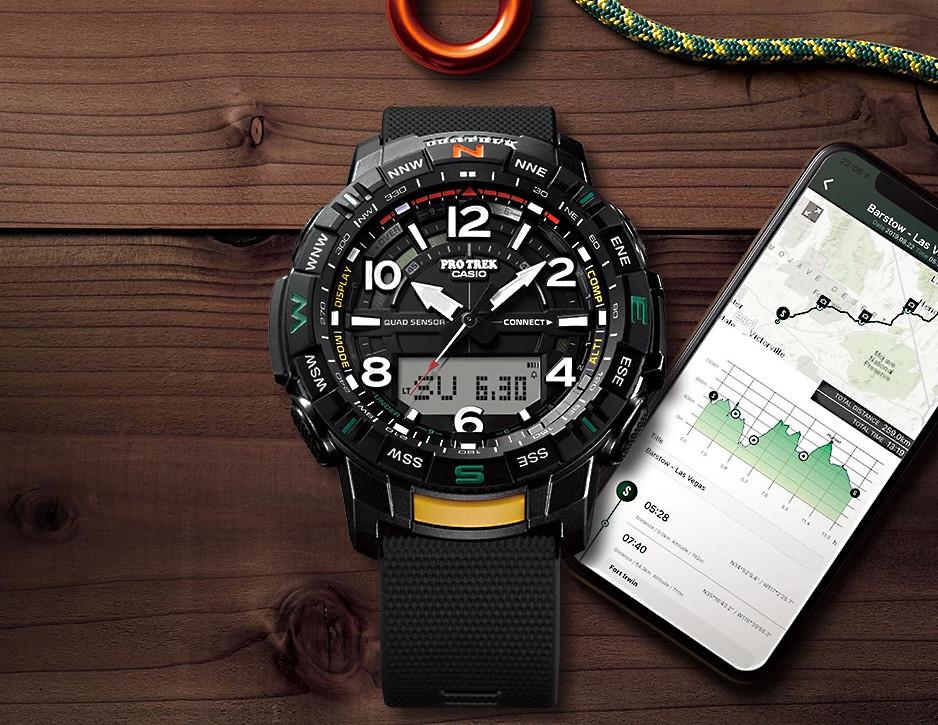 casio pro-trek prt-b50 conexion app smartphone quadsensor