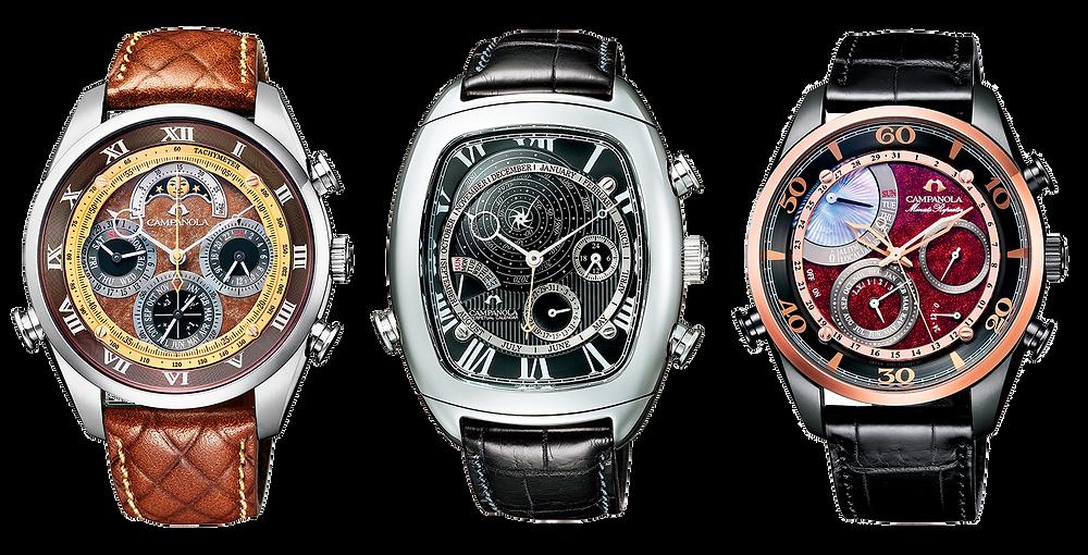 relojes premium campanola coleccion complicaciones calibre cuarzo alta precision