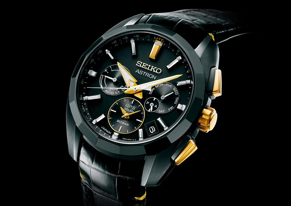 detalle bisel reloj seiko astron edición limitada ssh073 kintaro hattori.