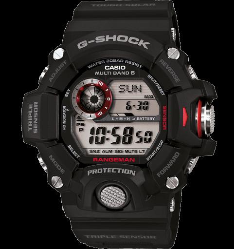 Rangeman GW-9400 reloj triple sensor, solar radiocontrolado