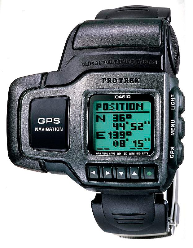 Casio Prt1, primer reloj del mundo con GPS integrado, primer relok Protrek potente