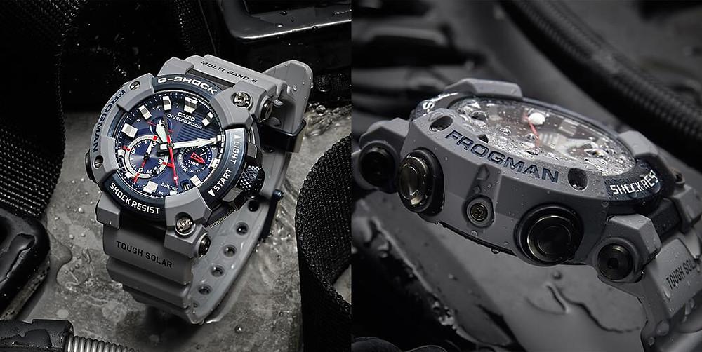 detalles edicion limitada g-shock x royal-navy reloj frogman gwfa1000rn