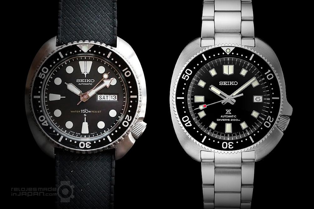 Seiko relojes de pelicula captain willard SPB151 y vintage Diver 6309