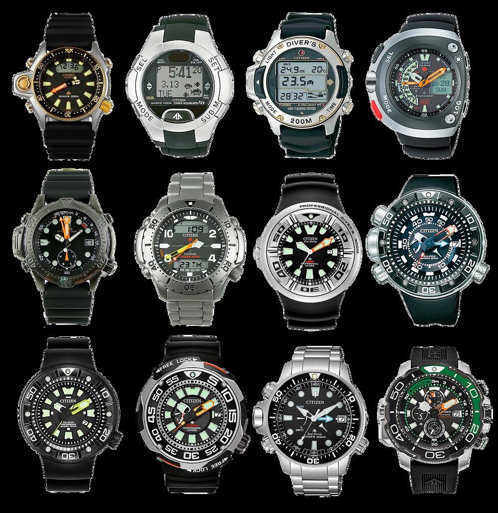 relojes citizen aqualand mas famosos populares de todos los tiempos