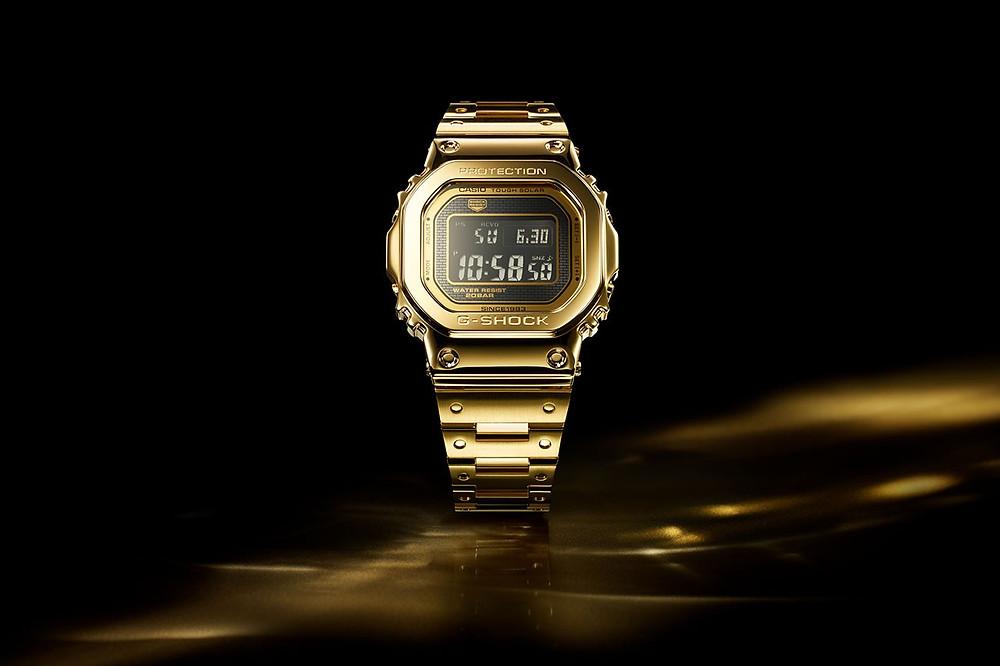 reloj digital en oro 18 kilates casio g-shock g-d5000-9jr