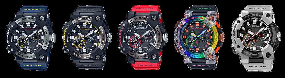 todos los relojes frogman serie gwf a1000 analogicos