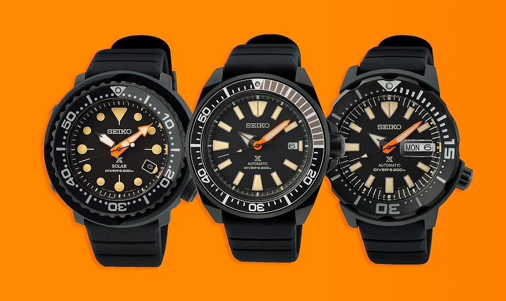 3 nuevos relojes Seiko Prospex Black Series SNE577P1  SRPH11K1  SRPH13K1