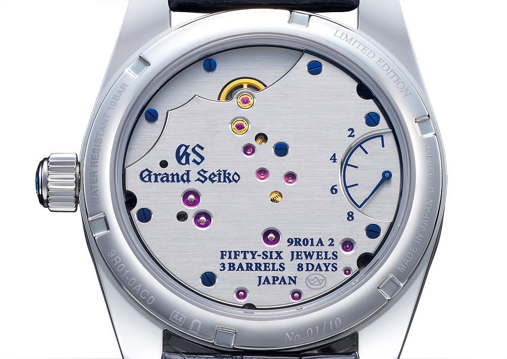 Grand Seiko Spring Drive 8 Dias reloj joya SBGD207 detalle fondo caja