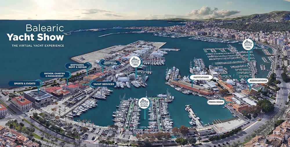mapa evento balearic yacht show 2021