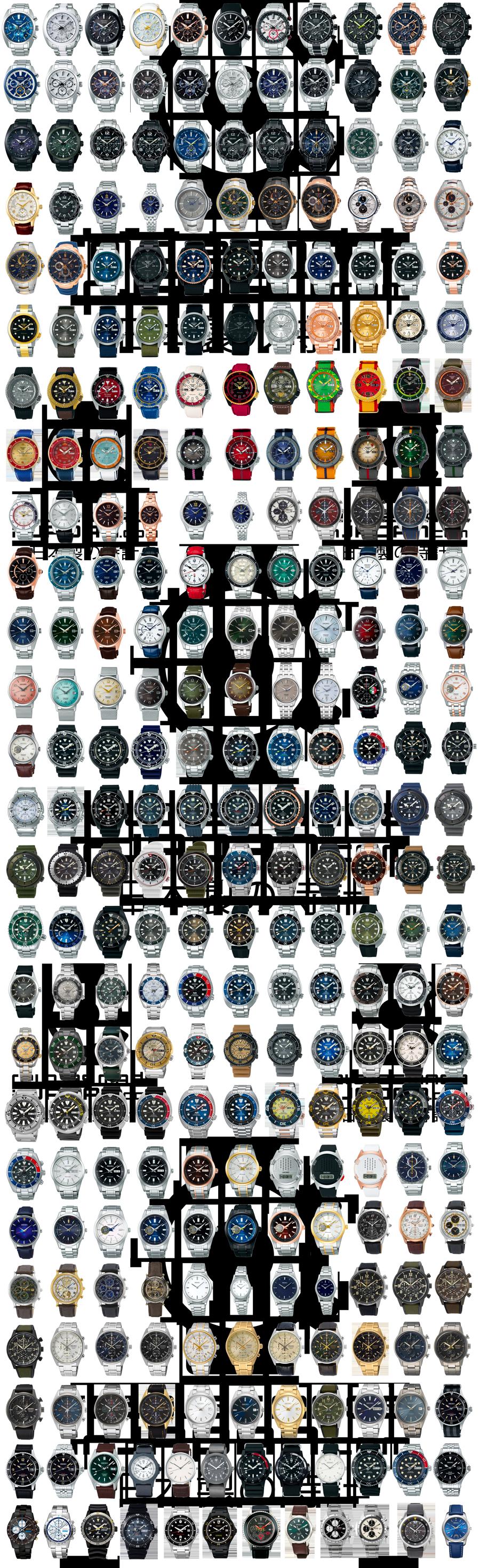 Todos los relojes Seiko producidos y lanzados en el año 2020